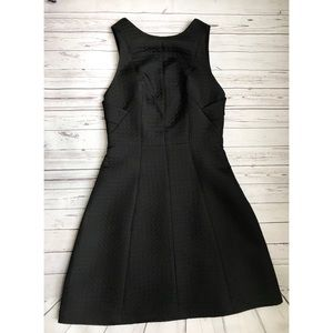 Armani exchange textured hourglass D dress black